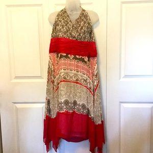 EUC Sexy Silk Halter Dress Plus Size 20